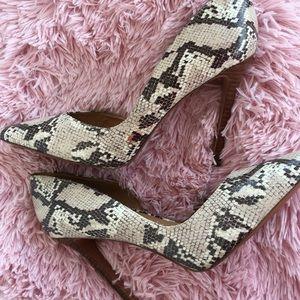 Size 11 Nine West Heels Snake Skin